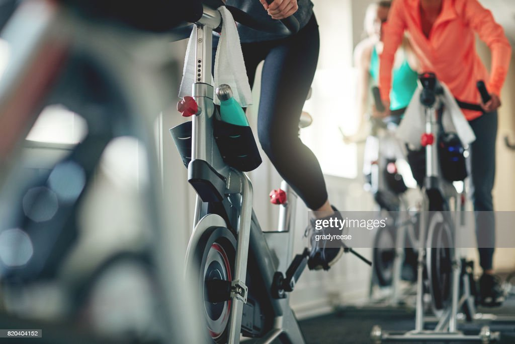Embrace the power of a bike : Stock Photo