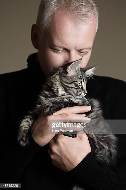 Embracing A Kitten