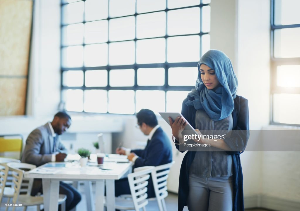 Embracing a more global and mobile business world : Stock Photo