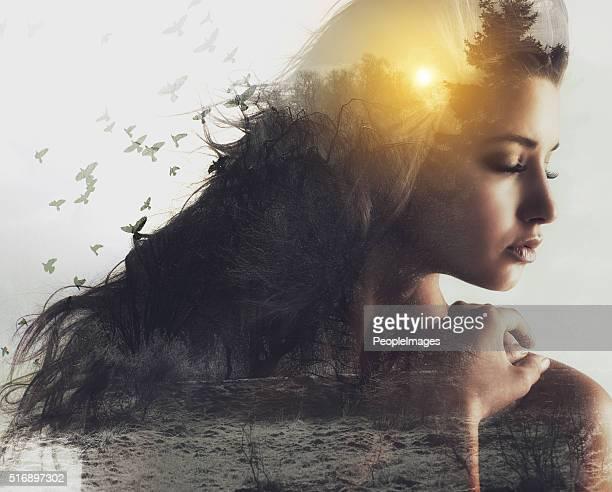 adotando beleza natural - só mulheres jovens - fotografias e filmes do acervo