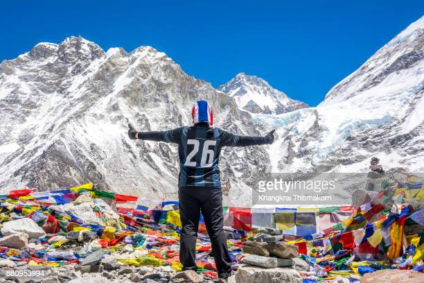 Embracing nature at Everest Base Camp in Nepal