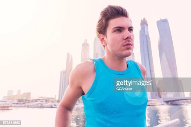 Embracing the morning sunshine near Dubai Marina