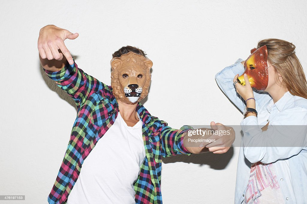 Embracing their wild side : Stock Photo