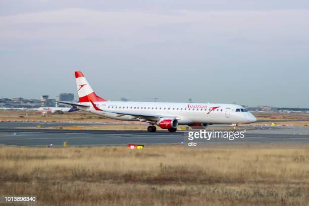 Embraer 195LR von Austrian Airlines hebt ab