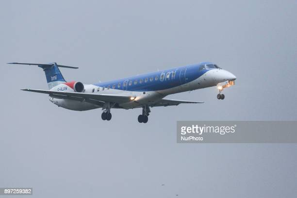 Embraer ERJ145 came off the runway after landing at Bristol Airport this morning 22 December 2017 with 25 passengers on board arriving from Frankfurt...
