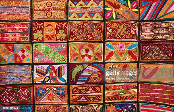 Embroided leatherware with traditional patterns - a Rajasthani speciality.