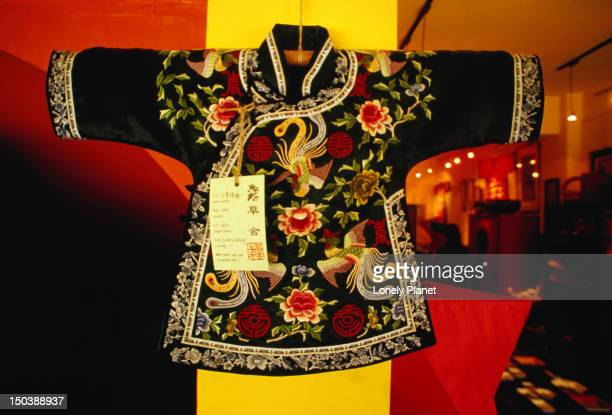 Embroidered Chinese jacket for sale in a shop near the Juanguomenwai Embassy area in Beijing.