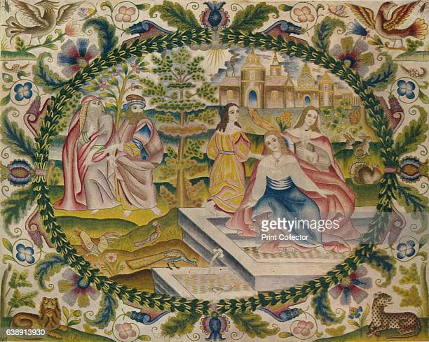 Embroidered Picture Mid17th Century' From Exhibition of English Decorative Art at Lansdowne House [The Collector London 1929] Artist Unknown