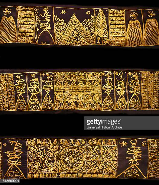 Embroidered textiles from The Path of Roses Rachid Koraichi Algeria Silk gold thread It pays homage to the 13th century's Sufi mystic Jalal alDin...