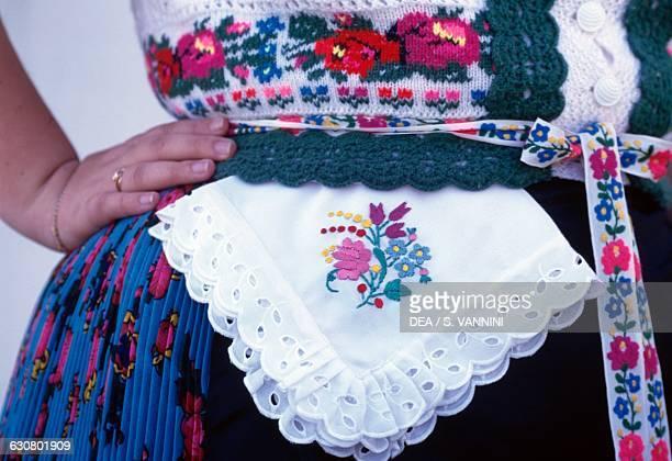 Embroidered traditional costume Holloko Hungary
