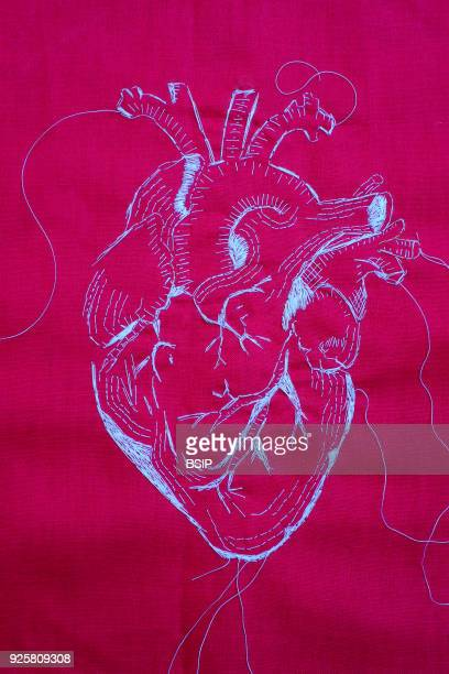 Embroidery portraying the heart