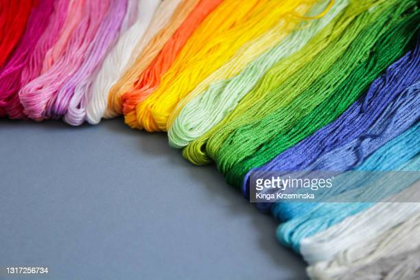 embroidery thread - needlecraft stock pictures, royalty-free photos & images