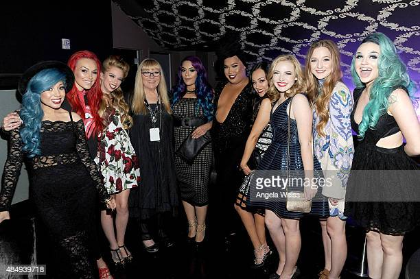 Emcee Charisma Star internet personality/makeup artist Kandee Johnson judge Bunny Meyer aka Grav3yardgirl contestants Lorena LoLo' Gallardo Patrick...