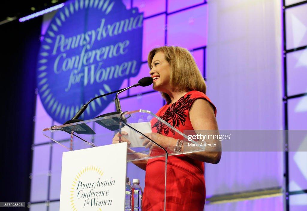 Emcee Monica Malpass speaks during Pennsylvania Conference For Women 2017 at Pennsylvania Convention Center on October 3, 2017 in Philadelphia, Pennsylvania.