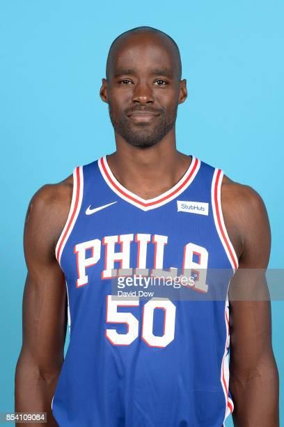 Emeka Okafor of the Philadelphia 76ers poses for a head shot during media day at Wells Fargo Center in Philadelphia Pennsylvania on September 25 2017...