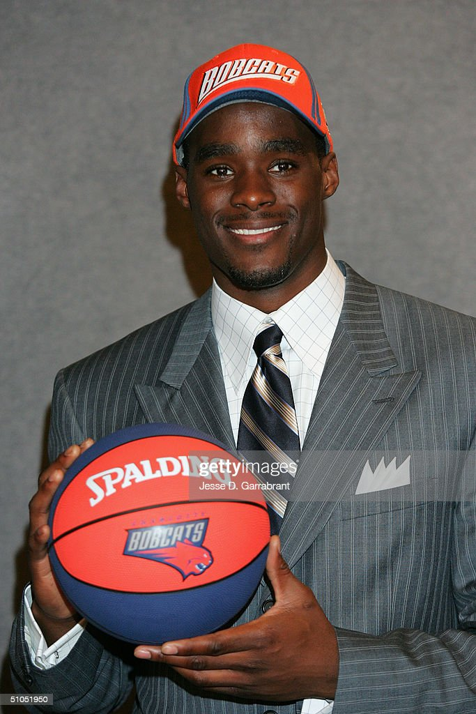 Emeka Okafor poses for a photo during the 2004 NBA Draft on June 24, 2004 at the Theater at Madison Square Garden in New York, New York.