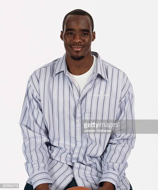 Emeka Okafor poses for a photo during the 2005 NBA AllStar Media Availability portrait session on February 18 2005 at The Westin Hotel in Dever...