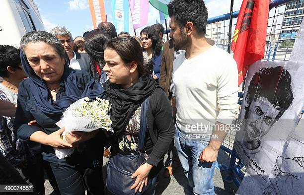 Emel Korkmaz leaves a courthouse in Kayseri on May 12 2014 Emel Korkmaz the mother of Ali Ihsan Korkmaz a young protester who was killed during...