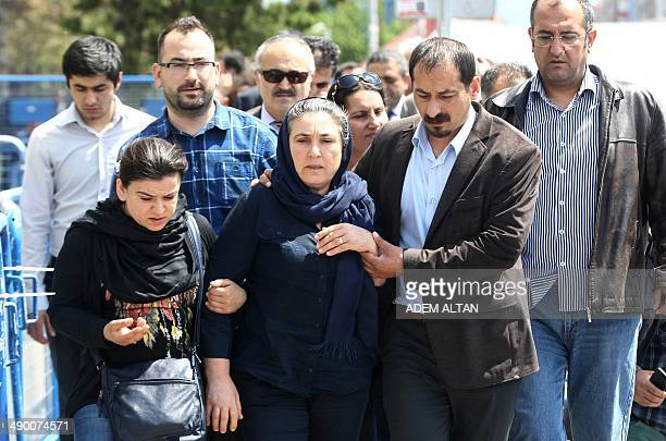 Emel Korkmaz leaves a courthouse in Kayseri on May 12 2014 Emel Korkmaz the mother of Ali Ihsan Korkmaz a young protester who died on July 10 2013...