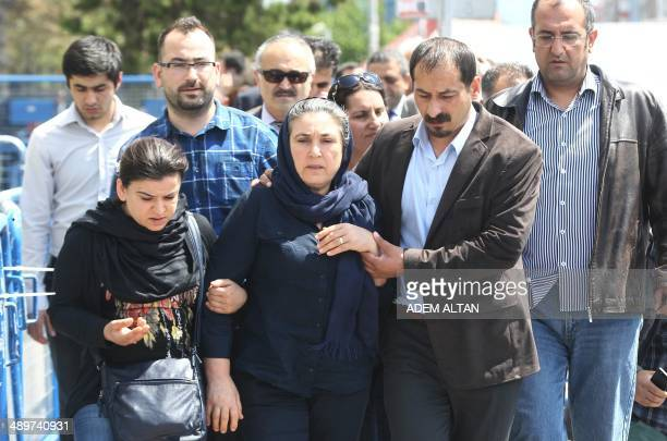 Emel Korkmaz the mother of Ali Ihsan Kormaz a protester who was killed during antiregime prostests last year leaves the courthouse of Kayseri...
