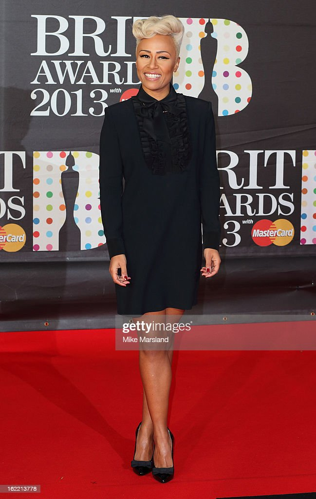 Emeli SandŽ attends the Brit Awards at 02 Arena on February 20, 2013 in London, England.