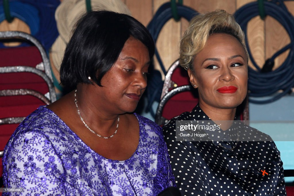 Emeli Sande and Doreen Lawrence attend a press conference and photocall to accounce 'Unity - A Concert for Stephen Lawrence' at Abbey Road Studios on June 18, 2013 in London, England.