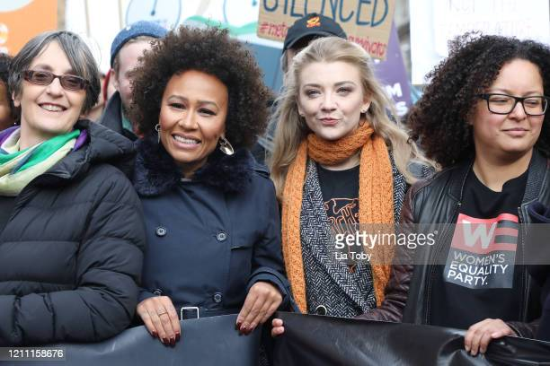 Emeli Sande and Natalie Dormer during the #March4Women 2020 rally at Southbank Centre on March 08, 2020 in London, England. The event is to mark...