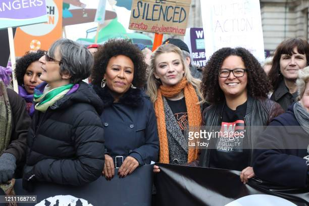 Emeli Sande, and Natalie Dormer during the #March4Women 2020 rally at Southbank Centre on March 08, 2020 in London, England. The event is to mark...