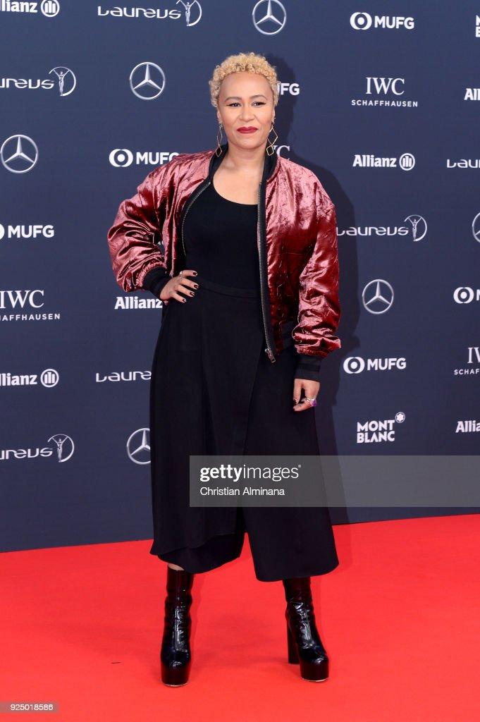 Emeli Sande attends the 2018 Laureus World Sports Awards at Salle des Etoiles, Sporting Monte-Carlo on February 27, 2018 in Monaco, Monaco.