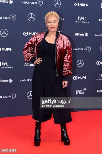 Emeli Sande attends the 2018 Laureus World Sports Awards at Salle des Etoiles Sporting MonteCarlo on February 27 2018 in Monaco Monaco
