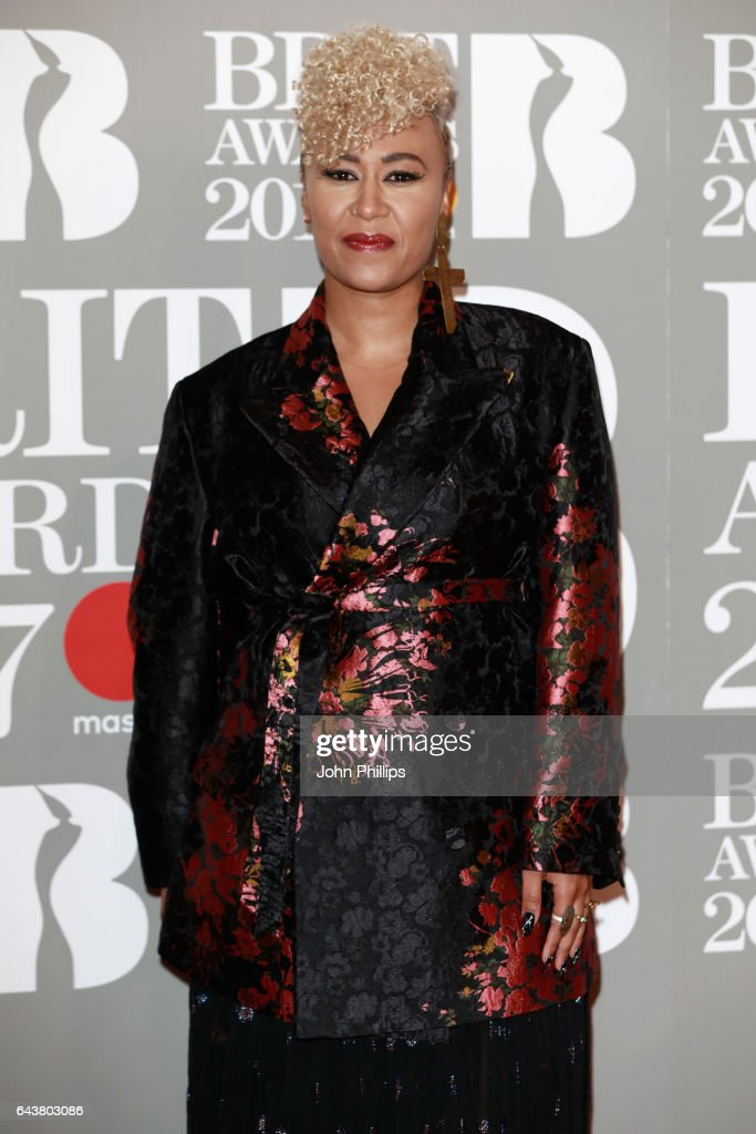 Emeli Sande attends The BRIT Awards 2017 at The O2 Arena on February 22, 2017 in London, England.