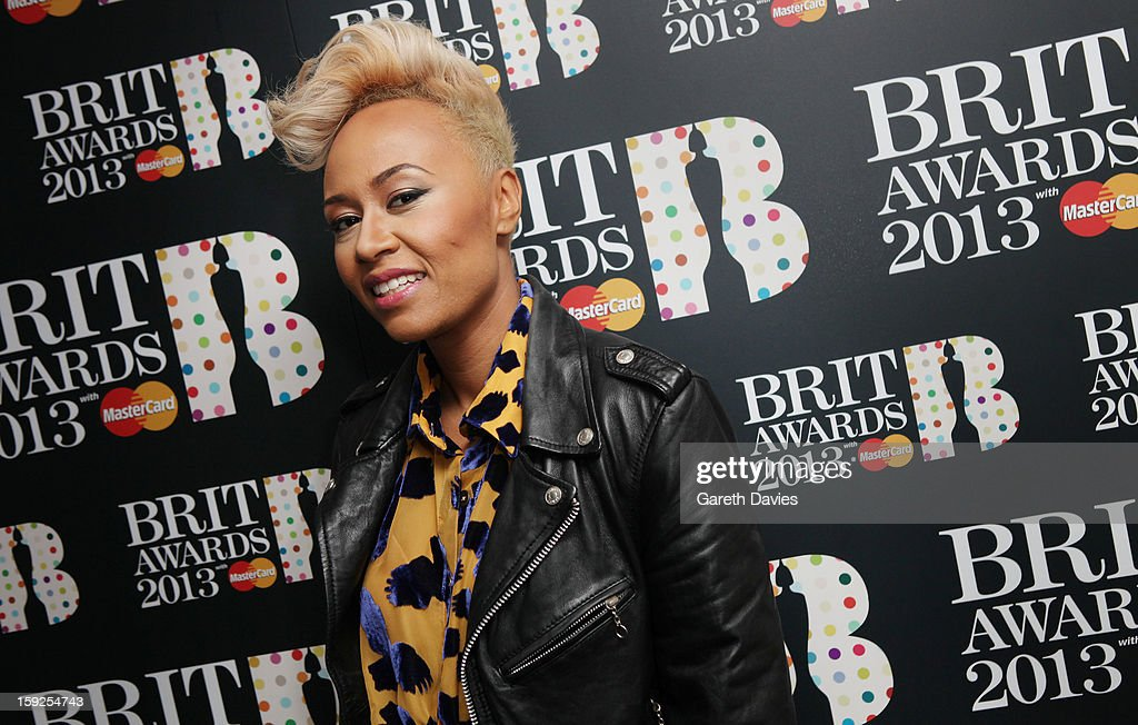 Emeli Sande attends the BRIT Awards nominations announcement at The Savoy Hotel on January 10, 2013 in London, England.