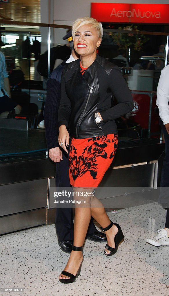 Emeli Sande attends the JetBlue Live From T5 Concert Series at JFK Airport on April 26, 2013 in New York City.