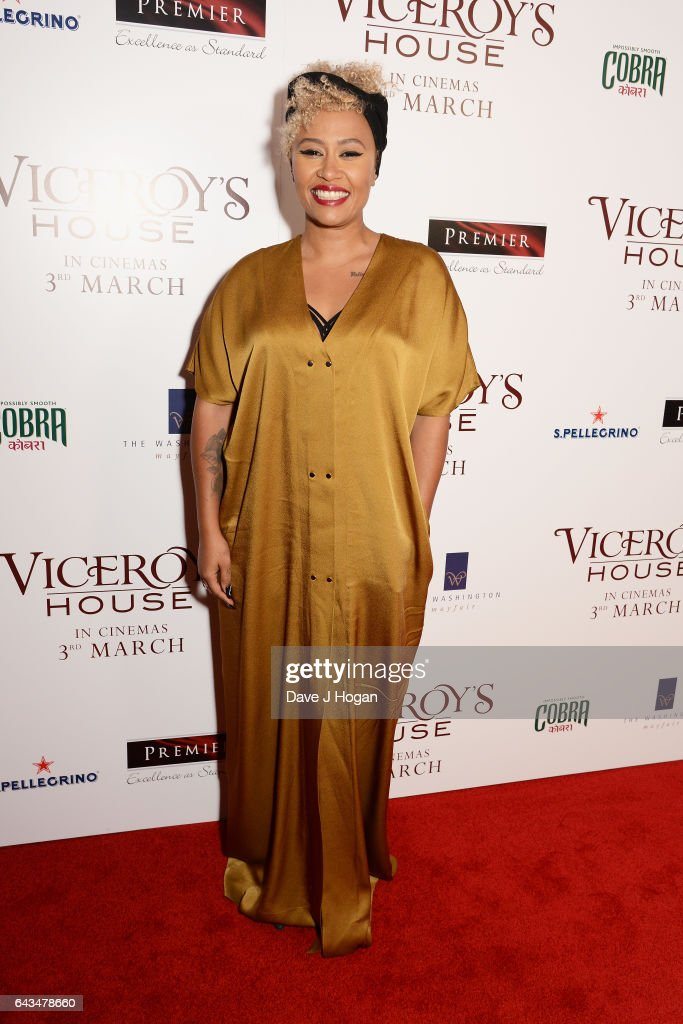 Emeli Sande attends the UK premiere of 'Viceroys's House' at The Curzon Mayfair on February 21, 2017 in London, England.