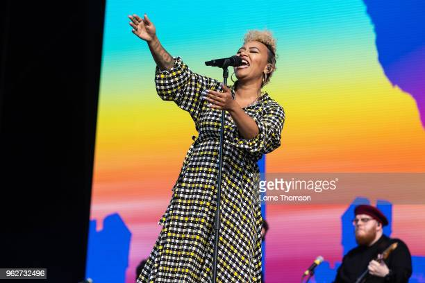 Emeli Sande performs at BBC Radio The Biggest Weekend at Scone Palace on May 26 2018 in Perth Scotland