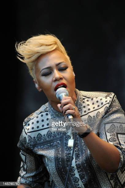 Emeli Sande performs at Cardiff's Cooper's Field on May 25 2012 in Cardiff Wales CocaCola brings Emeli Sande to Cardiff to get local people moving to...