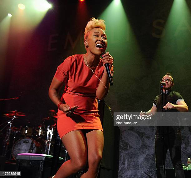 Emeli Sande performs at Club Nokia on August 10, 2013 in Los Angeles, California.