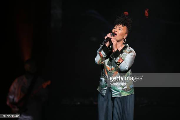 Emeli Sande performs at the 3Arena on October 27 2017 in Dublin Ireland