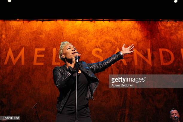 Emeli Sande performs during the Bud Light Music First 50/50/1 series on August 1, 2013 in Minneapolis, Minnesota.