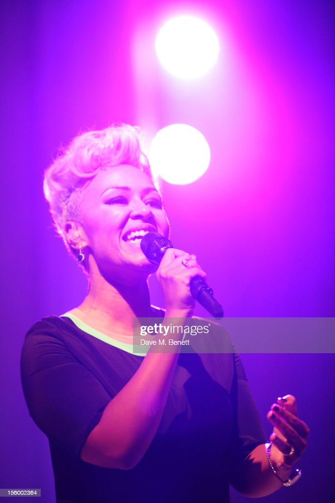 Emeli Sande performs during the Grey Goose Winter Ball at Battersea Power Station on November 10, 2012 in London, England.