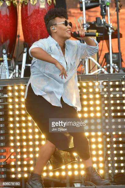 Emeli Sande performs live on stage during V Festival 2017 at Hylands Park on August 20 2017 in Chelmsford England