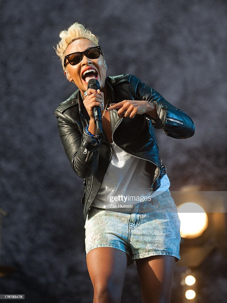 Emeli Sande performs on day 2 of the V Festival at Hylands Park on August 18, 2013 in Chelmsford, England.