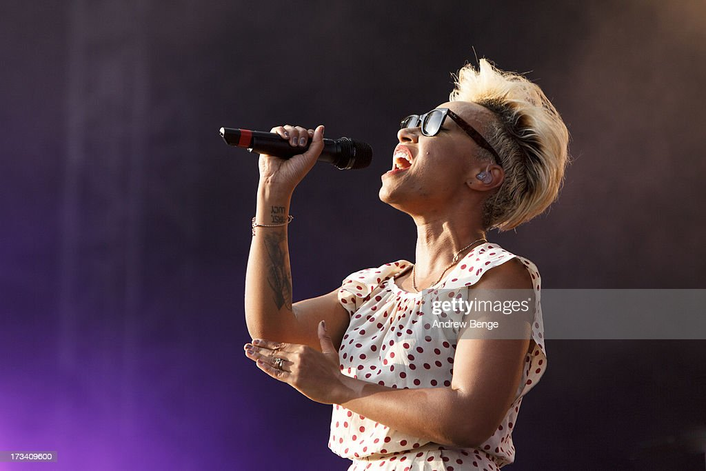Emeli Sande performs on stage on Day 2 of Yahoo Wireless Festival 2013 at Queen Elizabeth Olympic Park on July 13, 2013 in London, England.