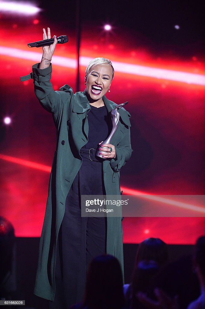 ARTIST. Emeli Sande speaks at the BRITS nominations launch at ITV Studios on January 14, 2017 in London, England.