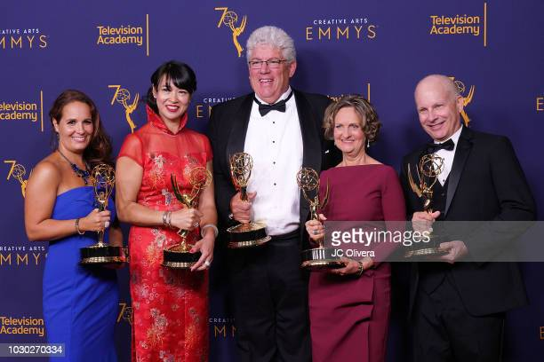Emelie Scaminaci KaLai Wong Raymond Hoover Lyn Noland and Mark S Renaudin winners of the award for outstanding technical direction camerawork video...