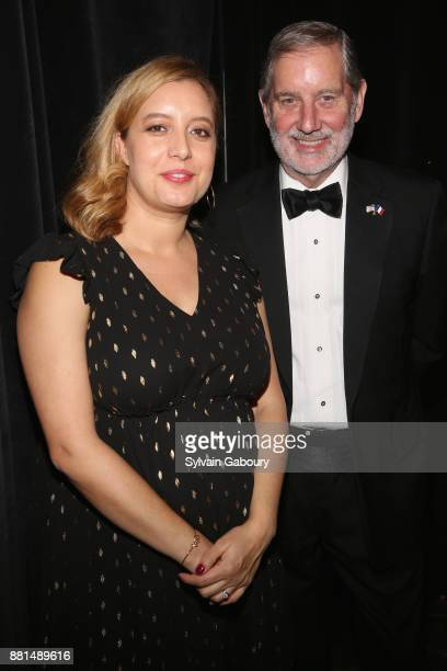 Emeline Foster and Allan Chapin attend French American Foundation Annual Gala 2017 at Gotham Hall on November 28 2017 in New York City