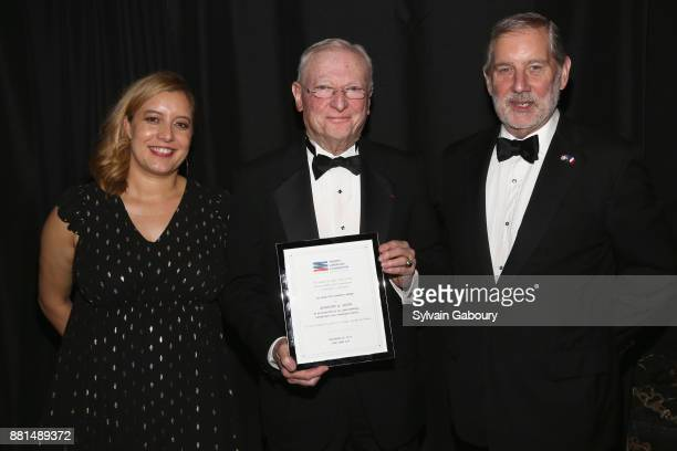 Emeline Foster Anthony Smith and Allan Chapin attend French American Foundation Annual Gala 2017 at Gotham Hall on November 28 2017 in New York City