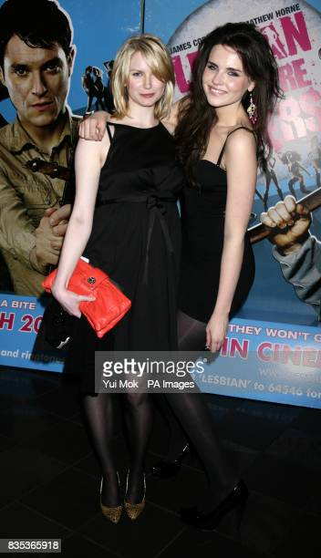 Emer Kenny and Louise Dylan arriving for the gala premiere of Lesbian Vampire Killers, at The Vue in Leicester Square, central London.