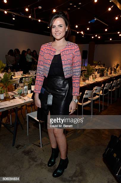 Emer Kenny attends Smashbox Influencer Dinner hosted by Lauren Laverne on January 21, 2016 in London, England.