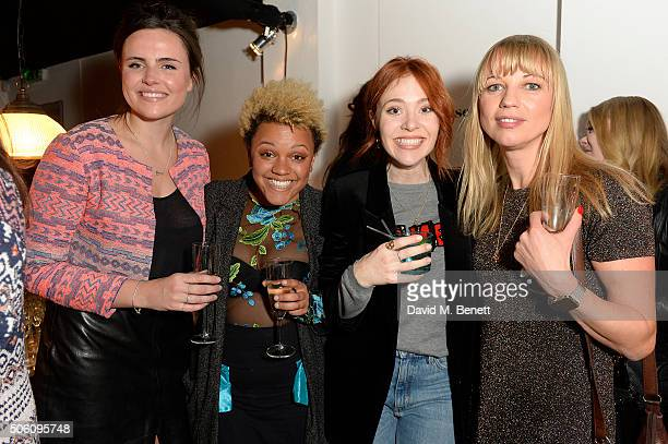 Emer Kenny, Gemma Cairney, Angela Scanlon and Sarah Cox attend Smashbox Influencer Dinner hosted by Lauren Laverne on January 21, 2016 in London,...